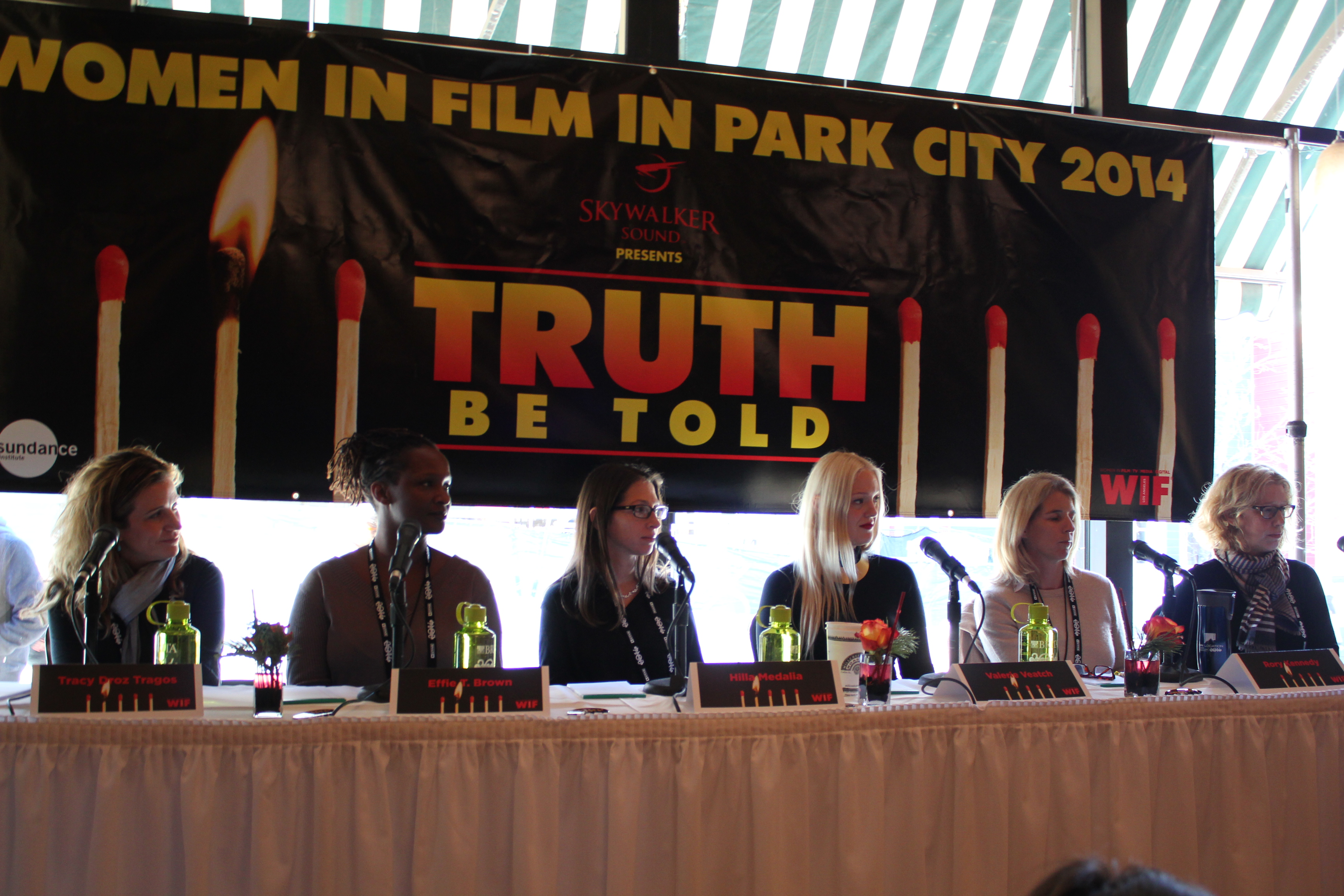 Copied from Realscreen - Women in Film's 'Truth Be Told' panel session at the 2014 Sundance Film Festival