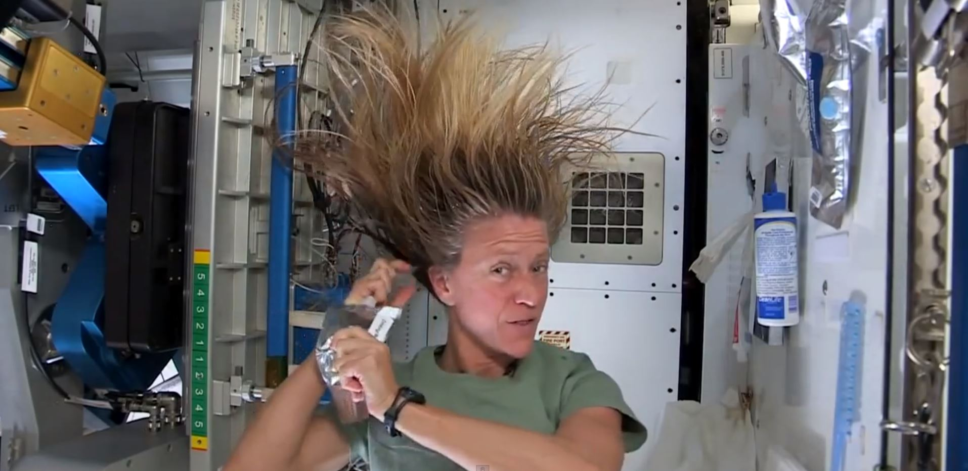 Wash Hair in Space
