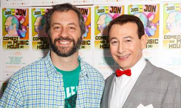 Pee-wee and Judd Apatow