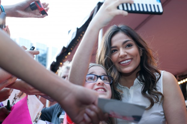 Bethany Mota greets fans on YouTube FanFest red carpet